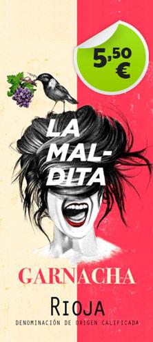 Oferta Vino Maldita Garnacha - 5,50€