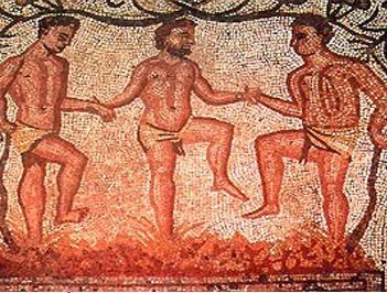 Pisado antiguo de uva