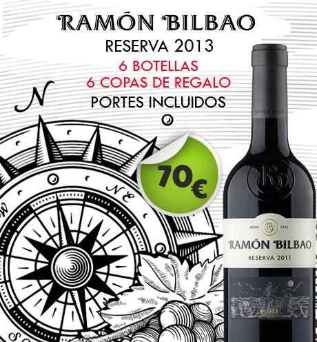Ramón Bilbao  Reserva + 6 copas